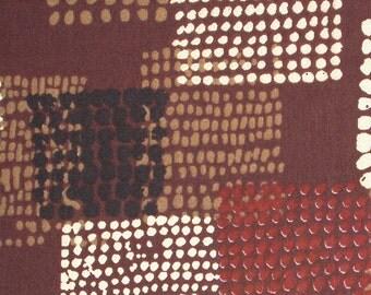 tribal print cotton fabric - brown tribal print cotton fabric- 1 yard ctnp222