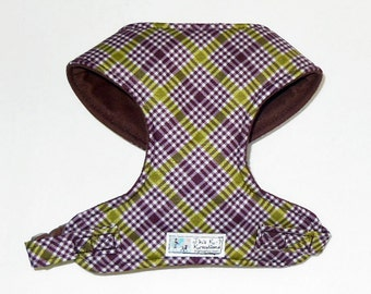 Plaid Comfort Soft Dog Harness, - Made to order -