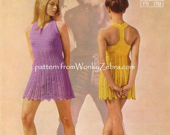 Tback Dress Crochet Pattern PDF 654 from WonkyZebra