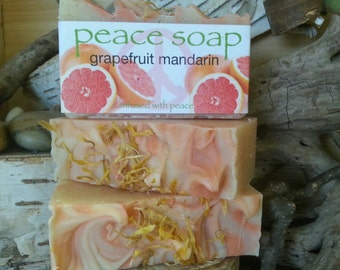 grapefruit mandarin peace soap