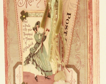 St. Patrick's Day Card - In Honor of St Patrick - Vintage St Patrick's Day Card - Victorian St Patrick's Day Card