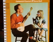 Free Shipping - Googly Eyes -1960s Pete Seeger Children's Concert Hall Album Recycled / Upcycled LP Cover Blank Comb-Bound Journal