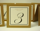 Wedding Table Numbers Personalized Wedding Table Decor  Prepared in All of my Colors