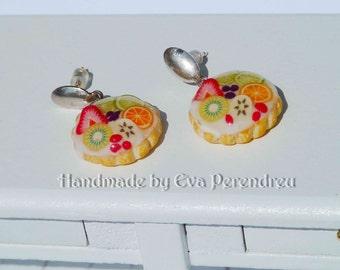 Fruit tartlets earrings