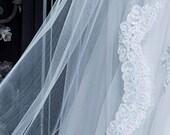 Beaded French Alencon Lace