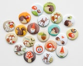 Buttons - Woodland Themed (Set of 20)