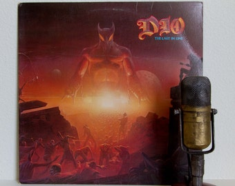 "Dio Vinyl Record Album 1980s Hard Rock Lp Ronnnie James Dio (Black Sabbath / Rainbow) ""Last In Line"" (original 1984 Warner Bros)"