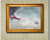 Contemplation on a Feather - Fine Art Print on heavy Cotton Canvas mounted on Stretcher Frame