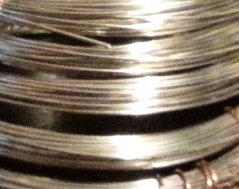 22 gauge Nickel Silver - 25 feet dead soft round wire