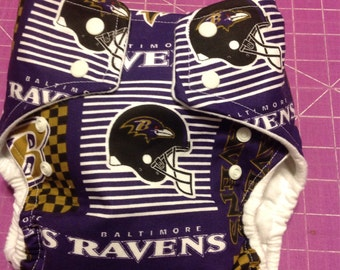 Baltimore Ravens Inspired Cloth Diapers/Diaper Cover