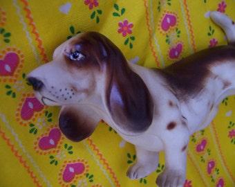 adorable hound dog figurine
