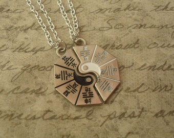 yin yang necklaces - best friends, couples matching necklaces