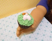 Miniature Easter Bunny Cupcake for American Girls 1:3