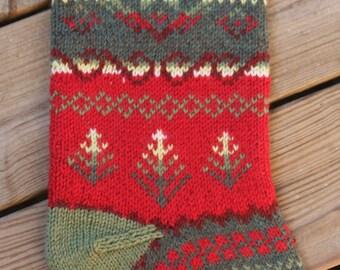 Tannenbaum Christmas Stocking Knit Pattern PDF