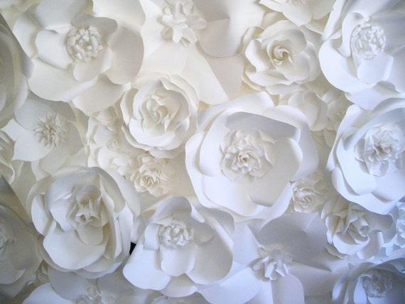 Dragonfly Expression - Paper Flower Backdrop - get inspired at diyweddingsmag.com