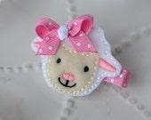 Spring Easter Lamb Hair Clip