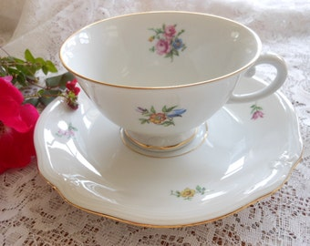Vintage Furstenberg Dresden Flower Teacup And Saucer