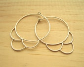 Silver Bubble Drop Hoops // Silver or Oxidized