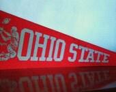 Vintage Football Pennant Ohio State Rose Bowl Pennant Flag