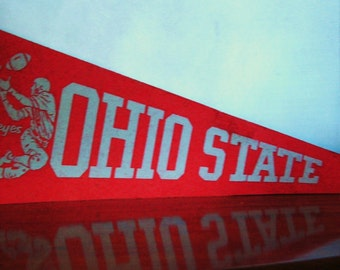 Vintage Football Pennant Ohio State Rose Bowl Pennant Flag
