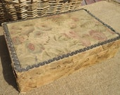 Antique French Boudoir Box with Early Fabric & Wallpaper