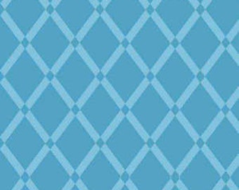 Two Tone Blue Diamond Trellis Geometric Flannel, 1 Yard