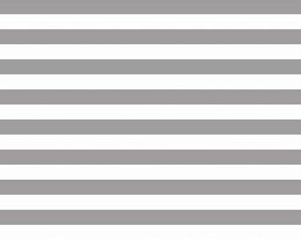 Gray and White Stripe Jersey Knit Fabric From Riley Blake Basics, 1 Yard Jersey KNIT