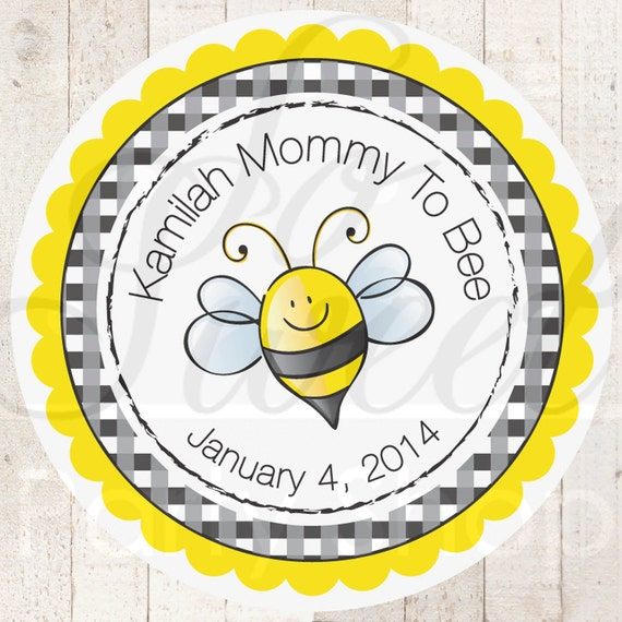 24 Baby Shower Favor Sticker Labels