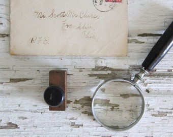 vintage letterpress hand stamp ink print block alphabet letter I
