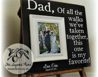 Father of the Bride Gift, Wedding Gift for Dad, Personalized Picture Frame, 16x16 The Sugared Plums Frames