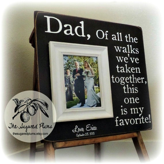 Wedding Gift Ideas For Dad : Father of the Bride Gift, Wedding Gift for Dad, Personalized Picture ...