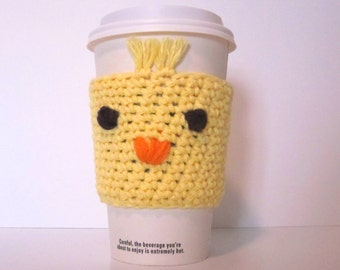 Chick Cup Cozy, Coffee Cozy, Easter Drink Sleeve