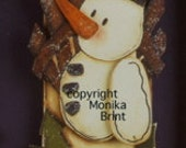 Winter Snowman-Christmas Decor-Winter Decor-Snowman-Primitive-Country Decor-Woodworking