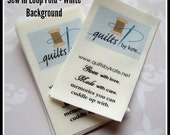 """220 - 1"""" x 2"""" - Fold-over tag / Label. Sew in. Seam tab style"""