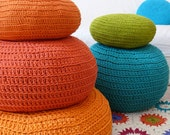 Floor Cushion Crochet - Orange