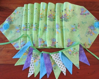 Disney Theme Custom Party Decoration / Custom Banner and matching Table Runner / TinkerBell Theme Party Decoration / Custom decoration