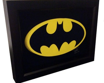 Batman 1989 Movie Logo Bat Symbol 3D Pop Art comic Artwork