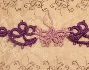 Tatting - Needle Tatted Butterfly Choker - Ready to Ship