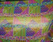Peter Pan Fabric Sheer Mod Pattern Bright Colors Vintage Style  About 4 Yards Nylon?