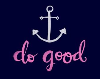 anchor do good wall art print