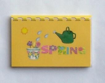 "SALE ITEM Price is marked/Handmade ""Spring"" Blank Recipe Book"