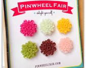 Magnets Push Pins Colorful Flower Pink Orange Green MIX (Qty 6)  - Office Gifts Under 20 Featured in 'Southern Living' Magazine