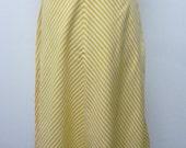 SALE!!!!!  Vintage Yellow skirt 80s