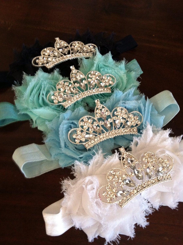 Baby Crown headband Flower Tiara Rhinestone Baby Headband