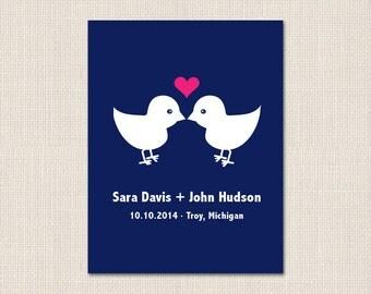 LOVE BIRDS Save the Date - DEPOSIT