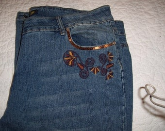 JOUJOU Womens Denium Jeans, Plus Size by Nanas Vintage Shop on Etsy