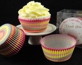 Multi Colored Circles Cupcake Liners