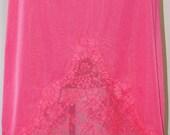 Gossard Artemis Pink 1960's Skirt Slip 11 Inch Lace Kick Pleat Stunning Pristine Like New by Voila Vintage Lingerie