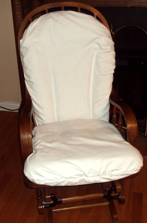 Items similar to nursery glider rocker slipcover for your cushions white cotton or your choice