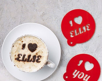 Personalised Heart Coffee Stencil